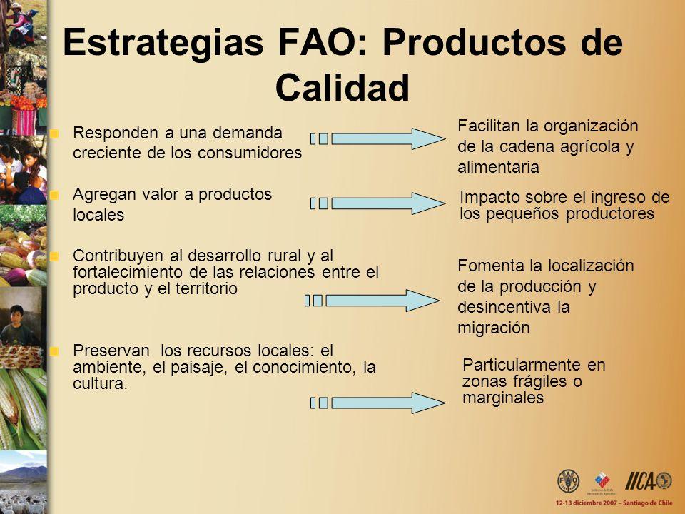 Estrategias FAO: Productos de Calidad