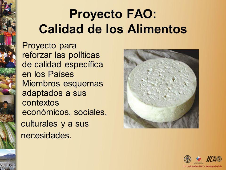 Proyecto FAO: Calidad de los Alimentos