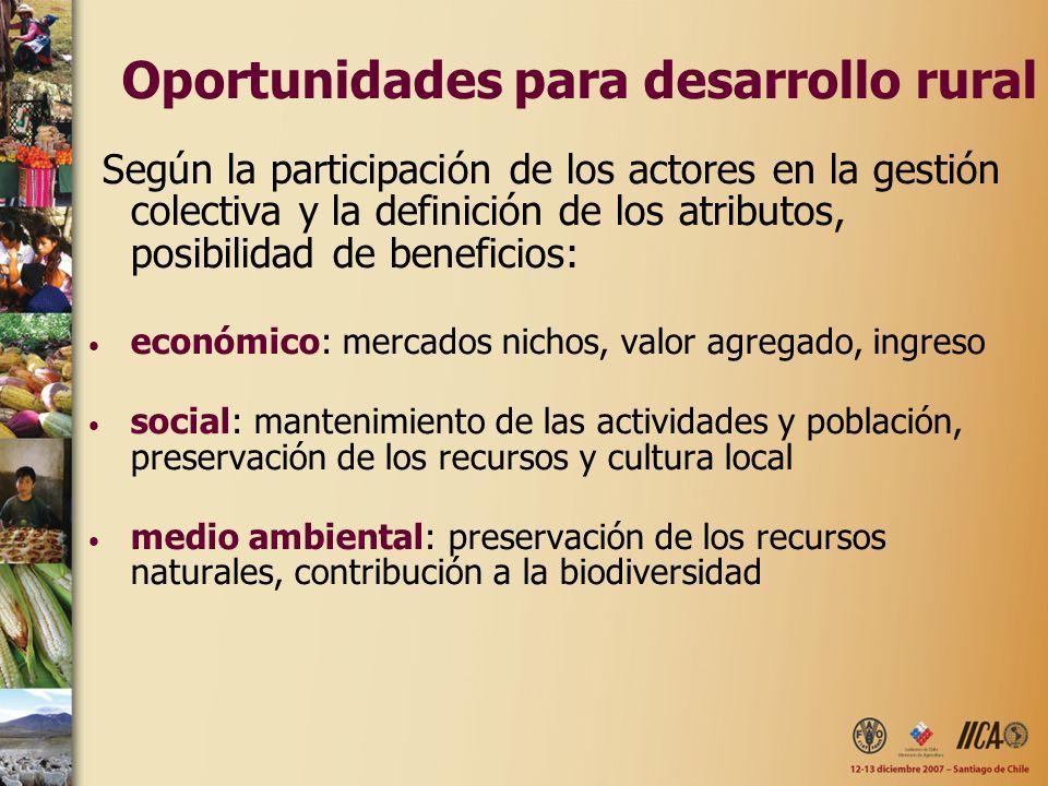 Oportunidades para desarrollo rural