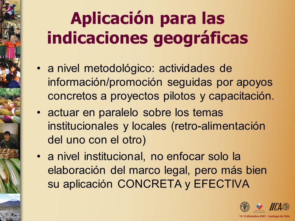 Aplicación para las indicaciones geográficas