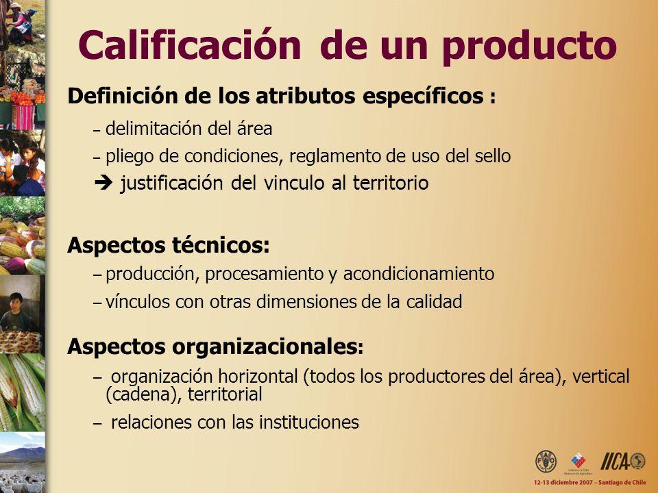 Calificación de un producto