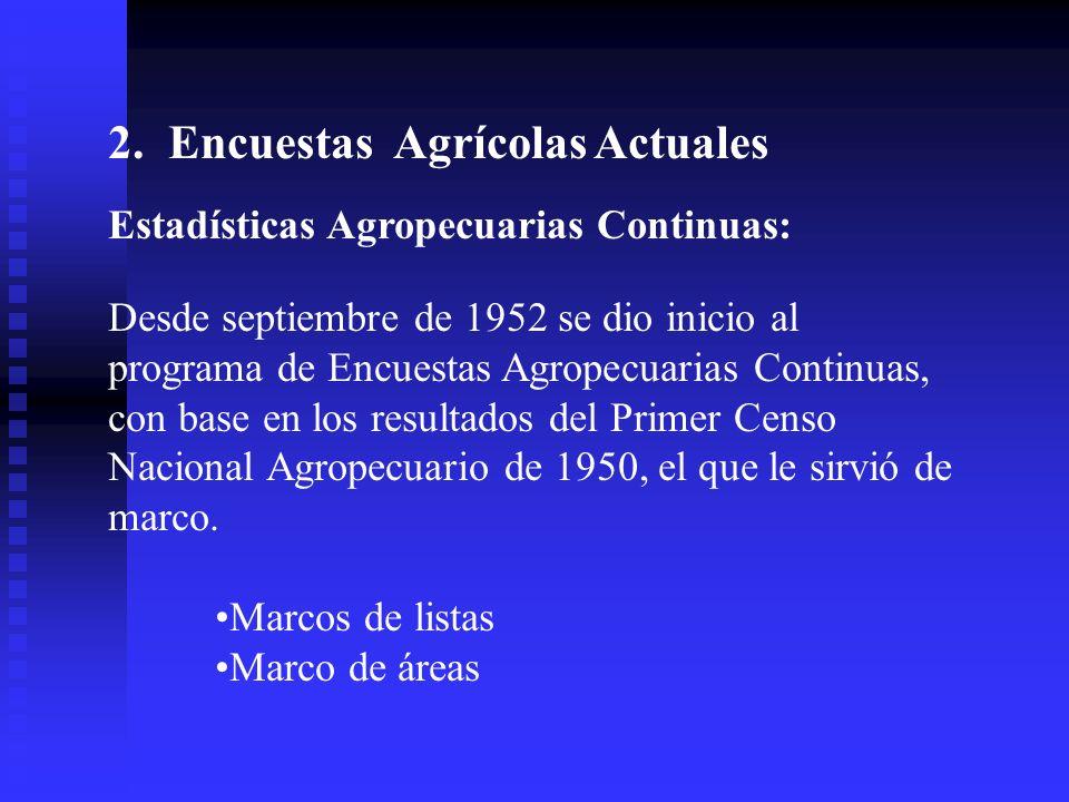 2. Encuestas Agrícolas Actuales