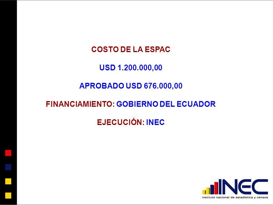 FINANCIAMIENTO: GOBIERNO DEL ECUADOR