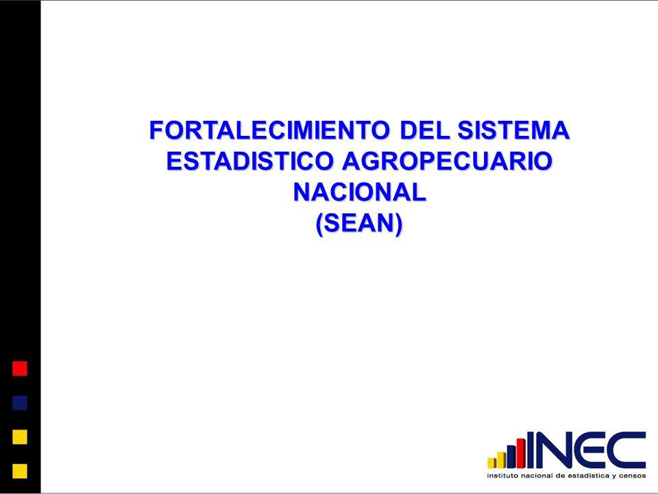 FORTALECIMIENTO DEL SISTEMA ESTADISTICO AGROPECUARIO NACIONAL