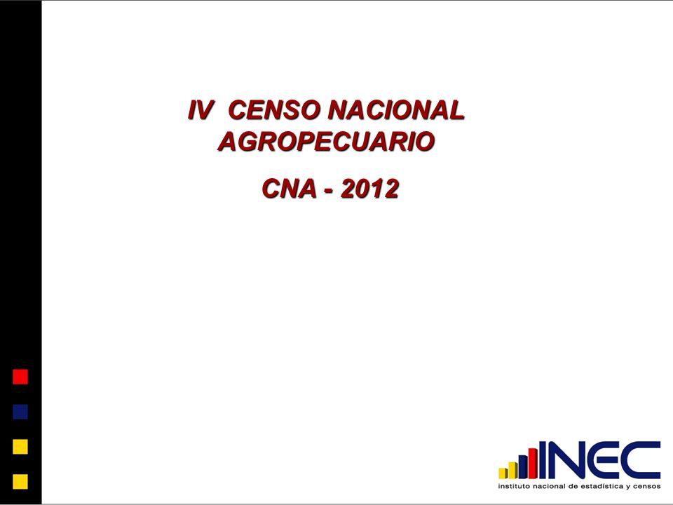 IV CENSO NACIONAL AGROPECUARIO