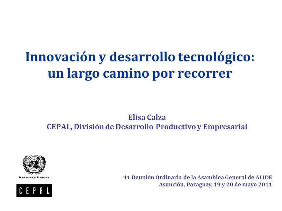 Innovación y desarrollo tecnológico: un largo camino por recorrer