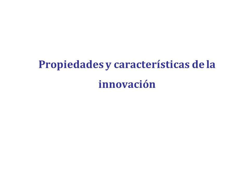 Propiedades y características de la innovación