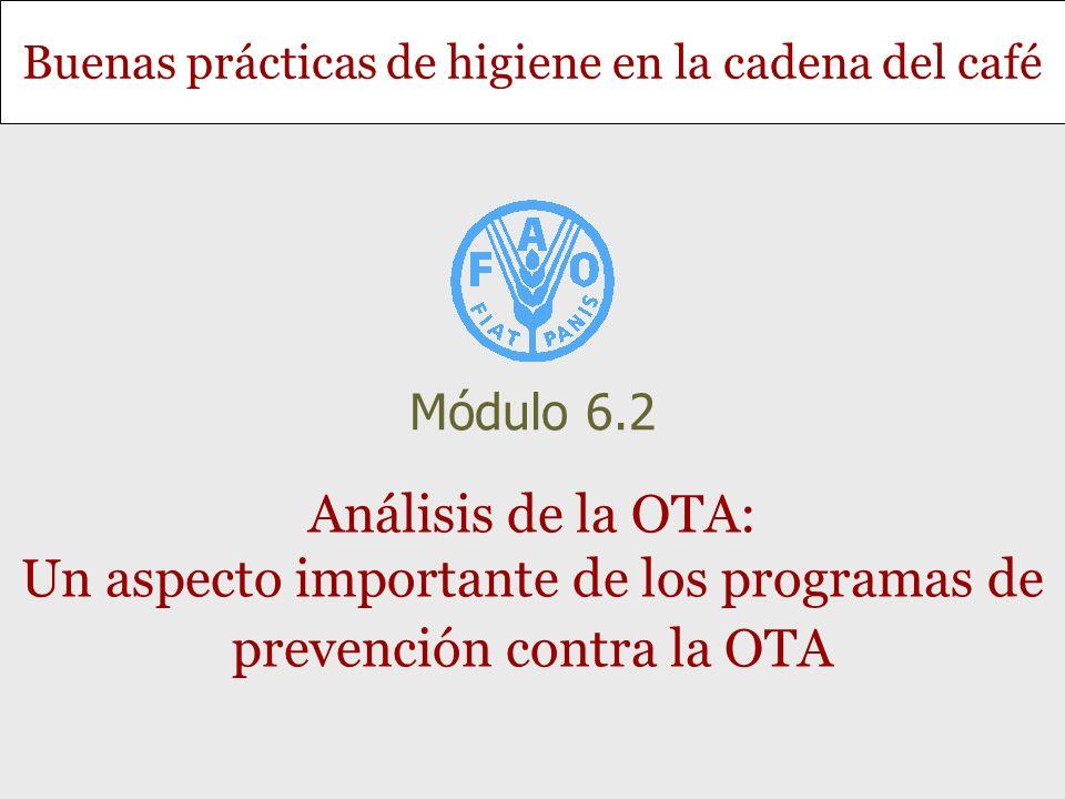 Módulo 6.2 Análisis de la OTA: Un aspecto importante de los programas de prevención contra la OTA