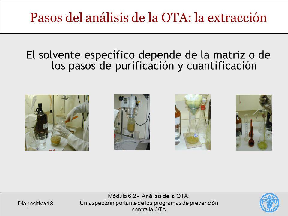 Pasos del análisis de la OTA: la extracción