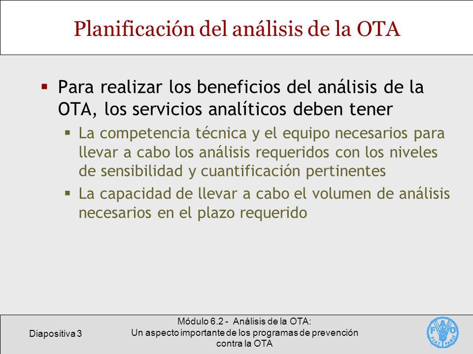 Planificación del análisis de la OTA