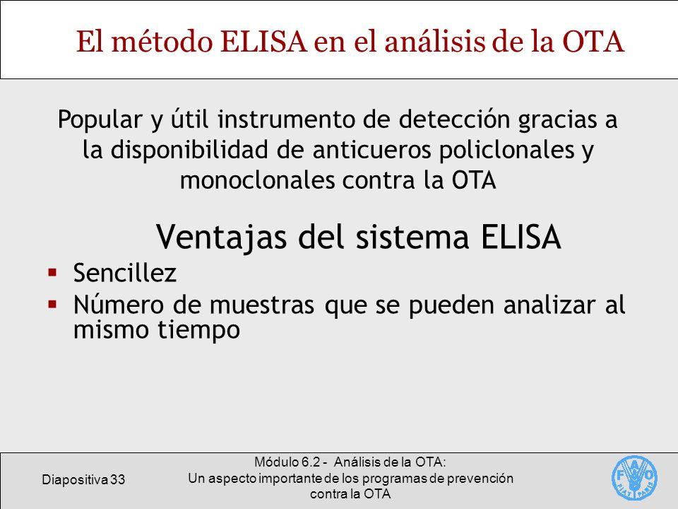 El método ELISA en el análisis de la OTA
