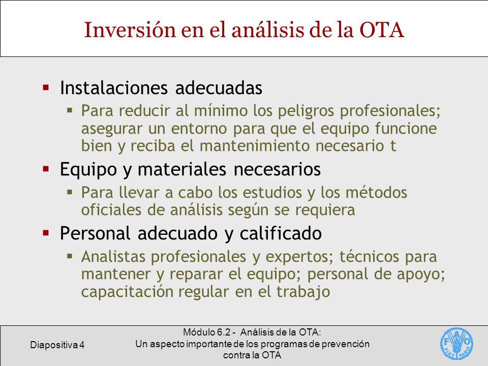Inversión en el análisis de la OTA