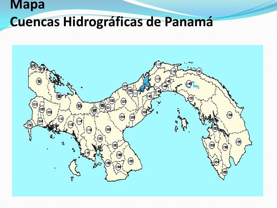 Mapa Cuencas Hidrográficas de Panamá