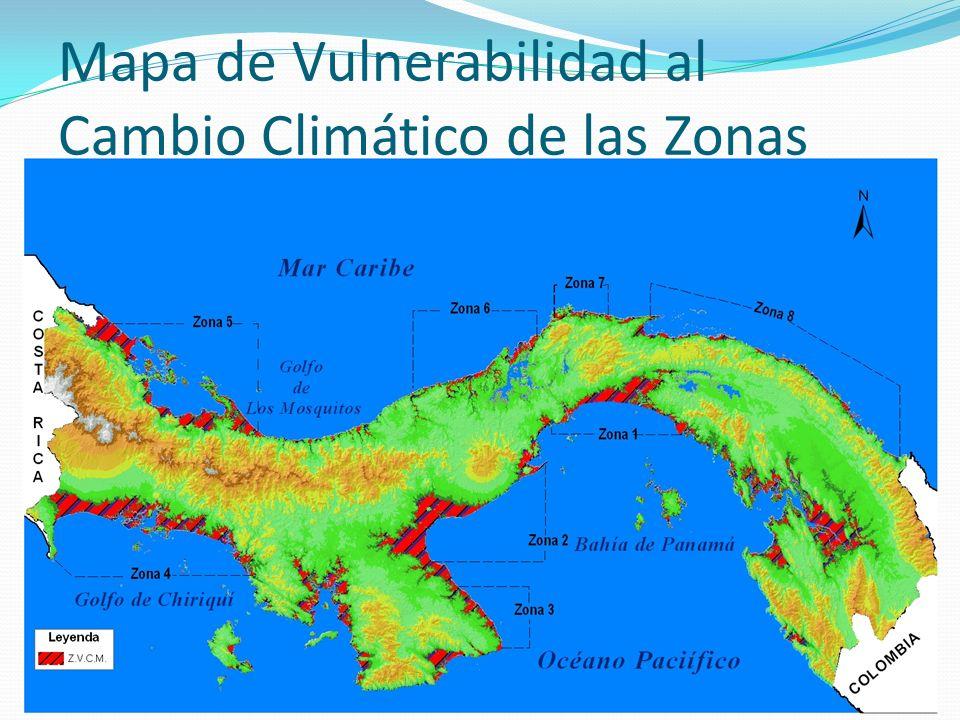 Mapa de Vulnerabilidad al Cambio Climático de las Zonas Marino-Costera