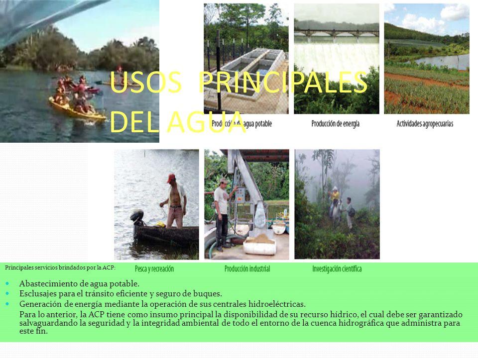 USOS PRINCIPALES DEL AGUA