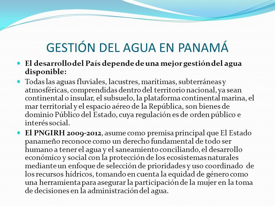 GESTIÓN DEL AGUA EN PANAMÁ