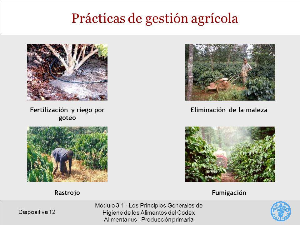 Prácticas de gestión agrícola