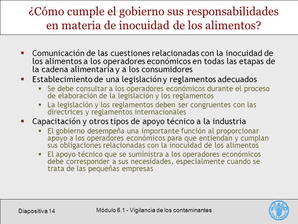 Módulo 6.1 - Vigilancia de los contaminantes