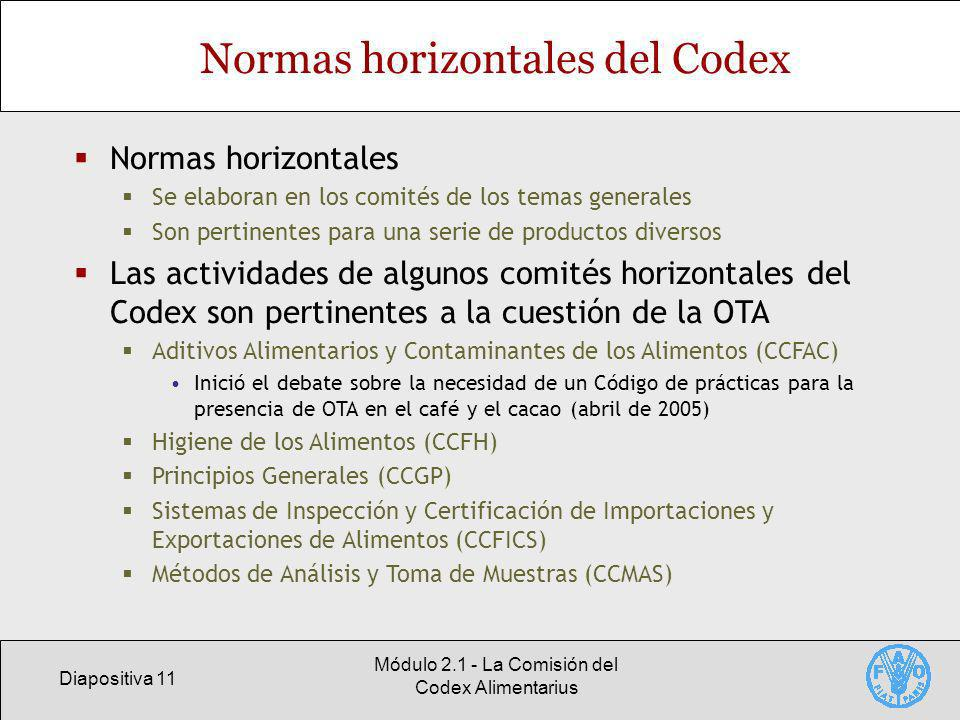 Normas horizontales del Codex