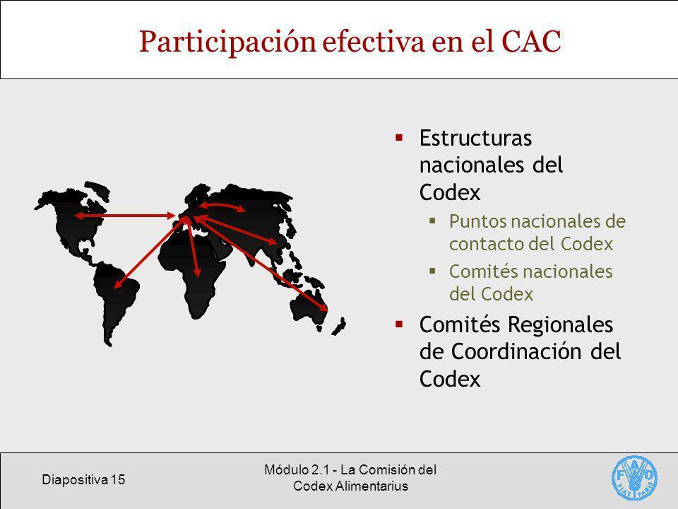 Participación efectiva en el CAC