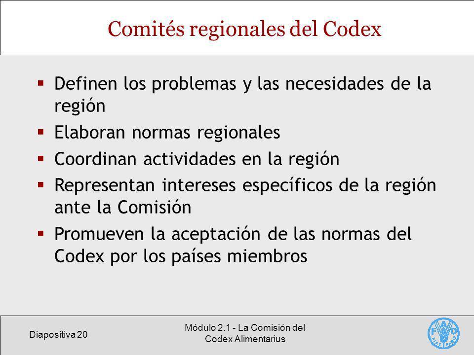 Comités regionales del Codex