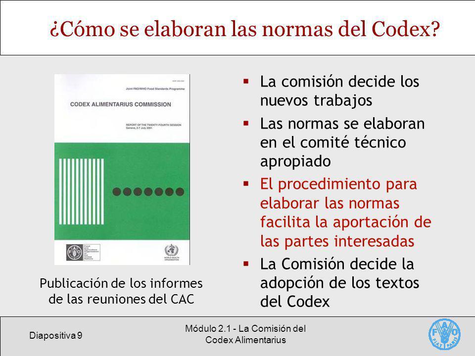 ¿Cómo se elaboran las normas del Codex