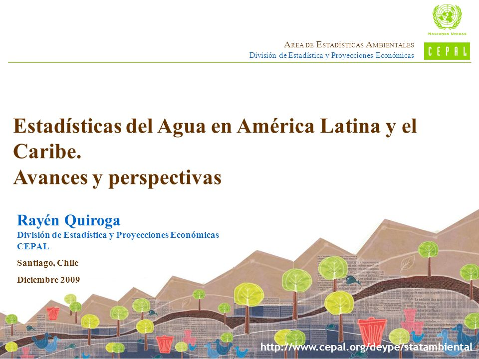Estadísticas del Agua en América Latina y el Caribe.