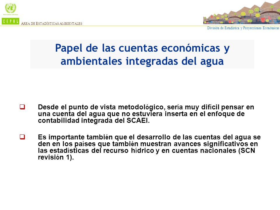 Papel de las cuentas económicas y ambientales integradas del agua