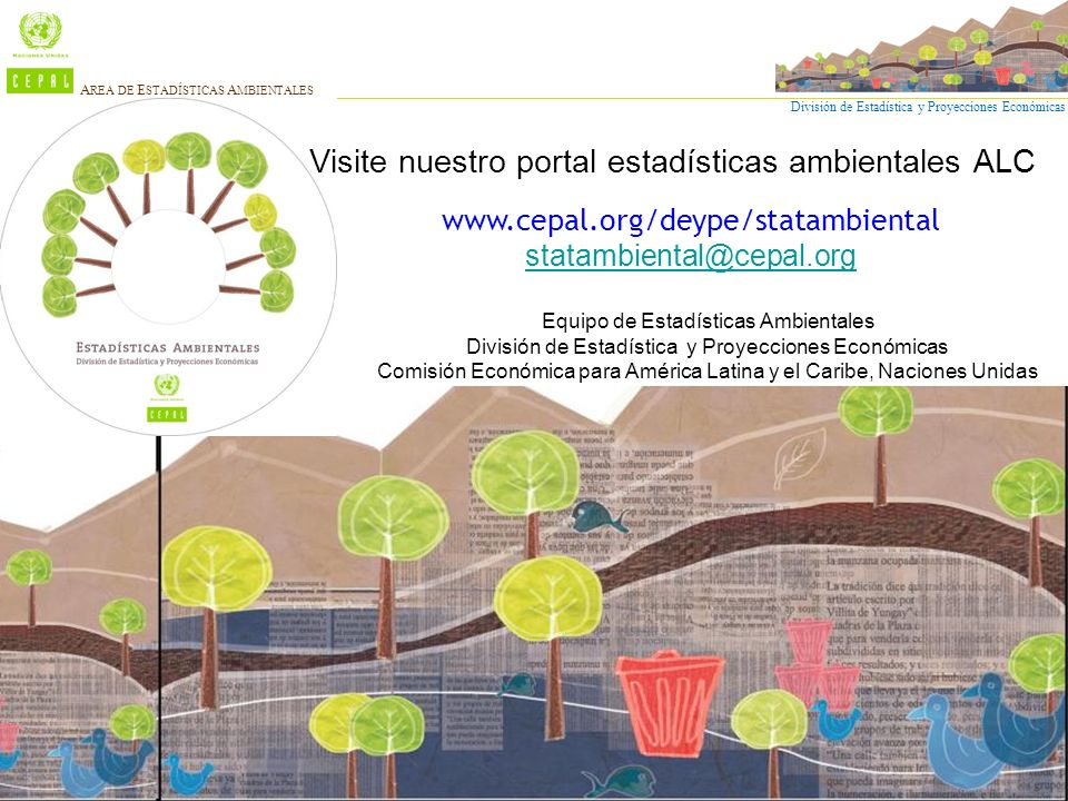 Visite nuestro portal estadísticas ambientales ALC