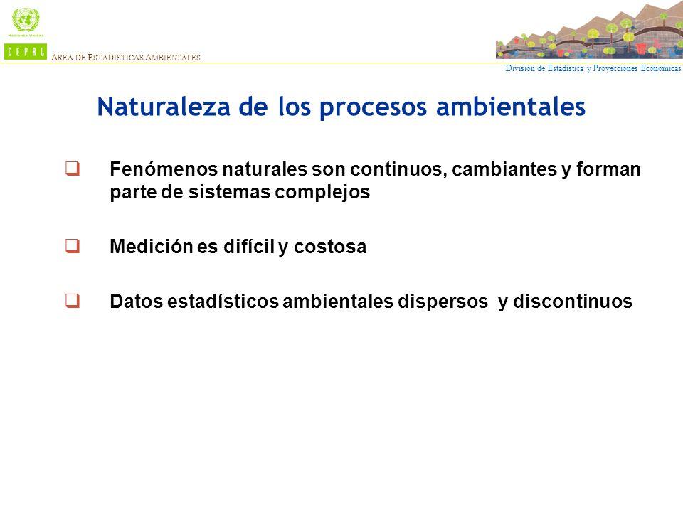 Naturaleza de los procesos ambientales