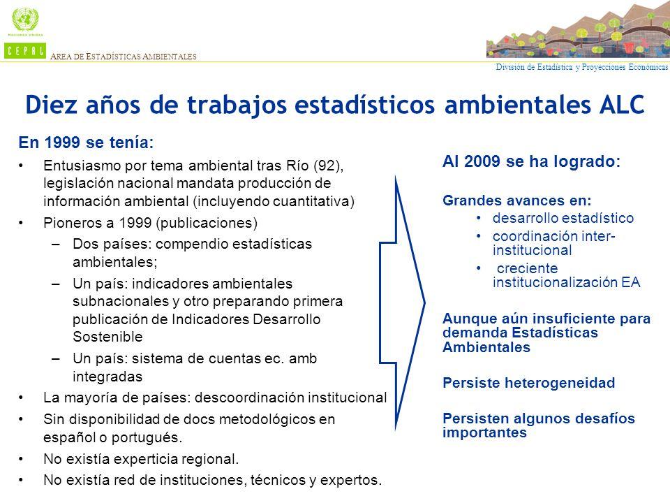 Diez años de trabajos estadísticos ambientales ALC