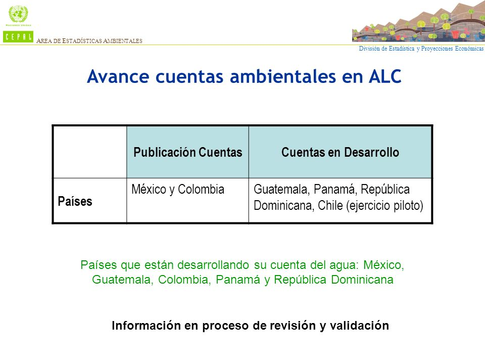 Avance cuentas ambientales en ALC