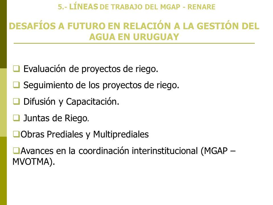 DESAFÍOS A FUTURO EN RELACIÓN A LA GESTIÓN DEL AGUA EN URUGUAY