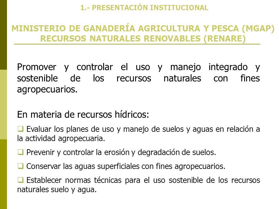 1.- PRESENTACIÓN INSTITUCIONAL