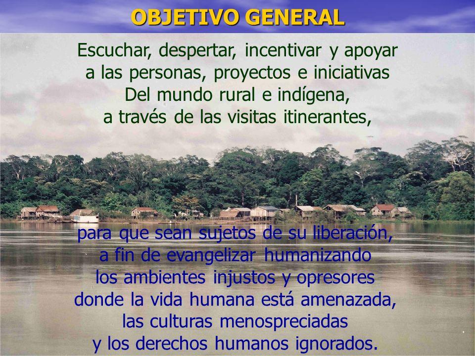OBJETIVO GENERAL Escuchar, despertar, incentivar y apoyar a las personas, proyectos e iniciativas.