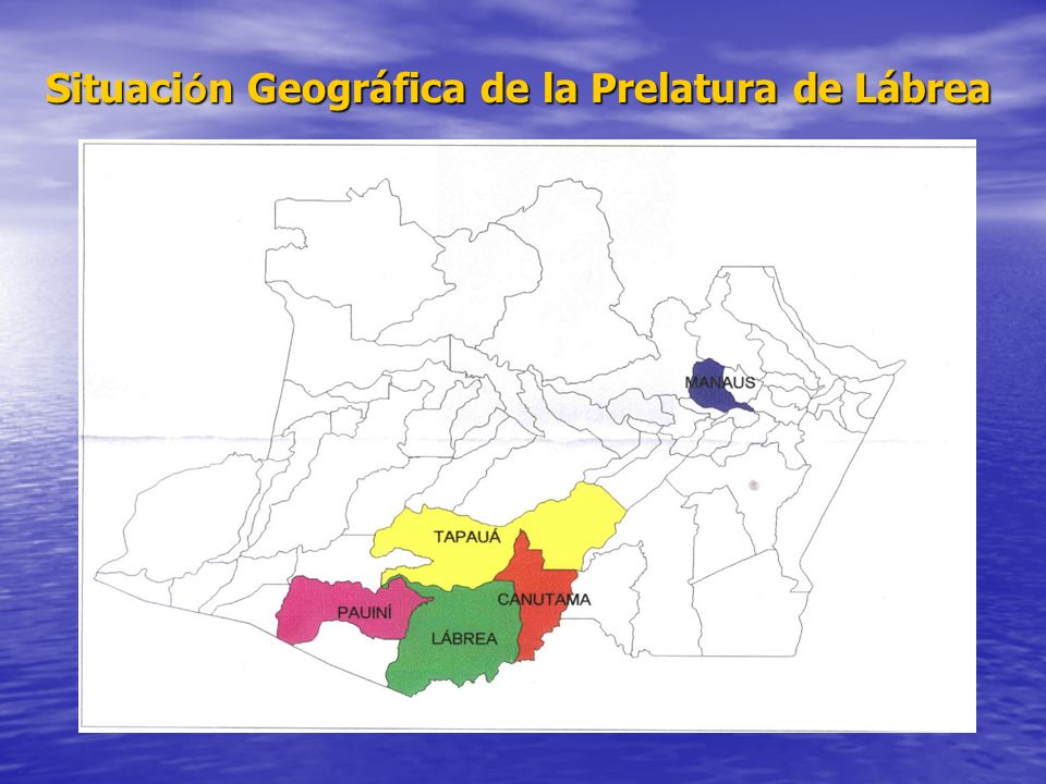 Situación Geográfica de la Prelatura de Lábrea