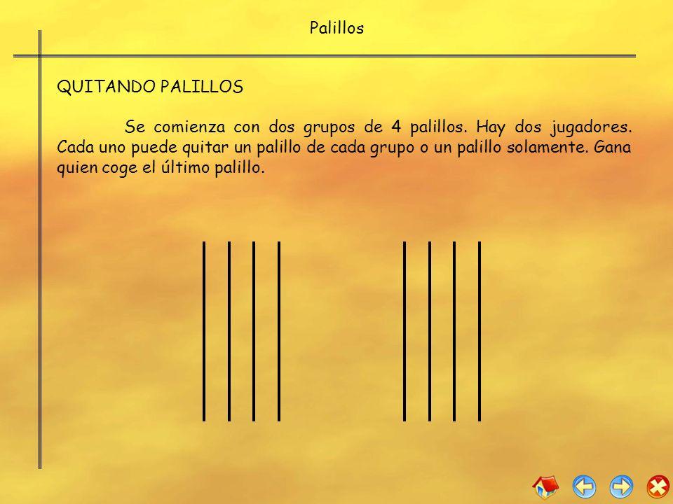 Palillos QUITANDO PALILLOS.