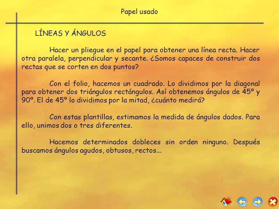 Papel usadoLÍNEAS Y ÁNGULOS.