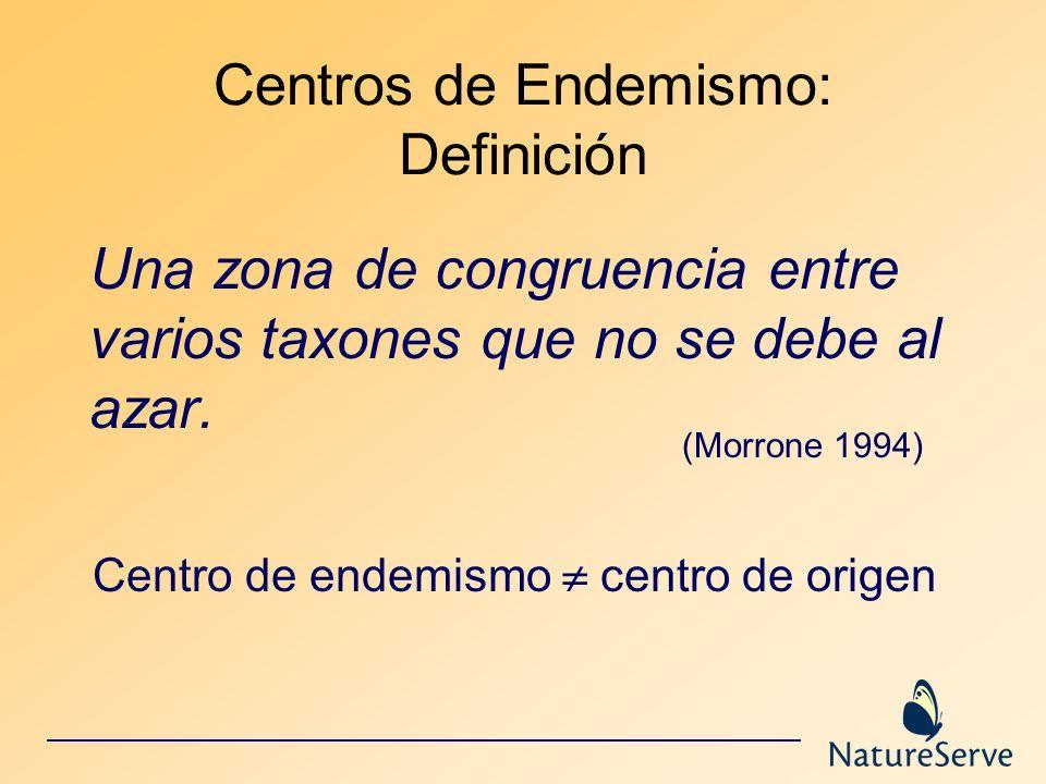 Centros de Endemismo: Definición