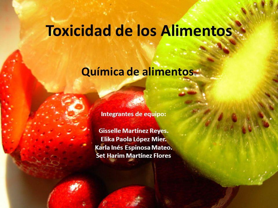 Toxicidad de los Alimentos