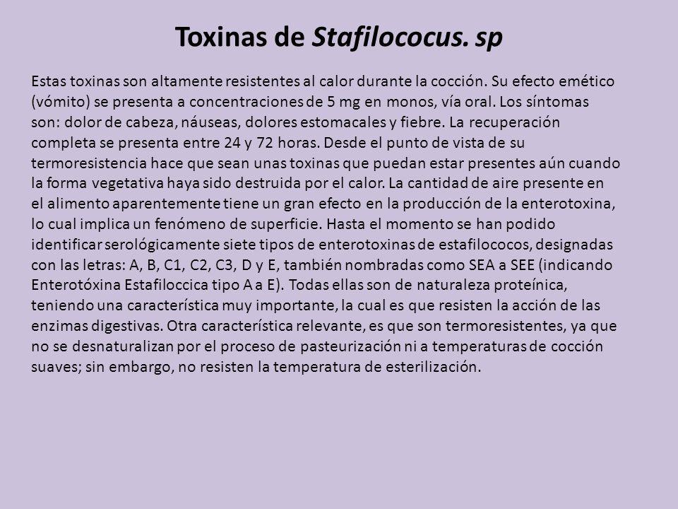 Toxinas de Stafilococus. sp