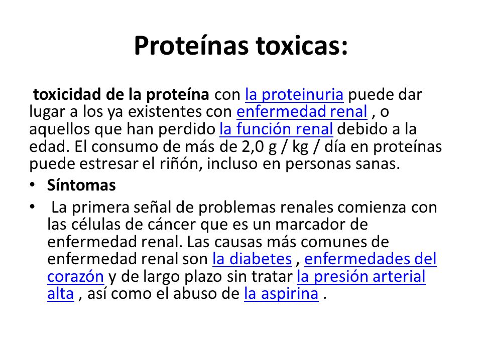 Proteínas toxicas: