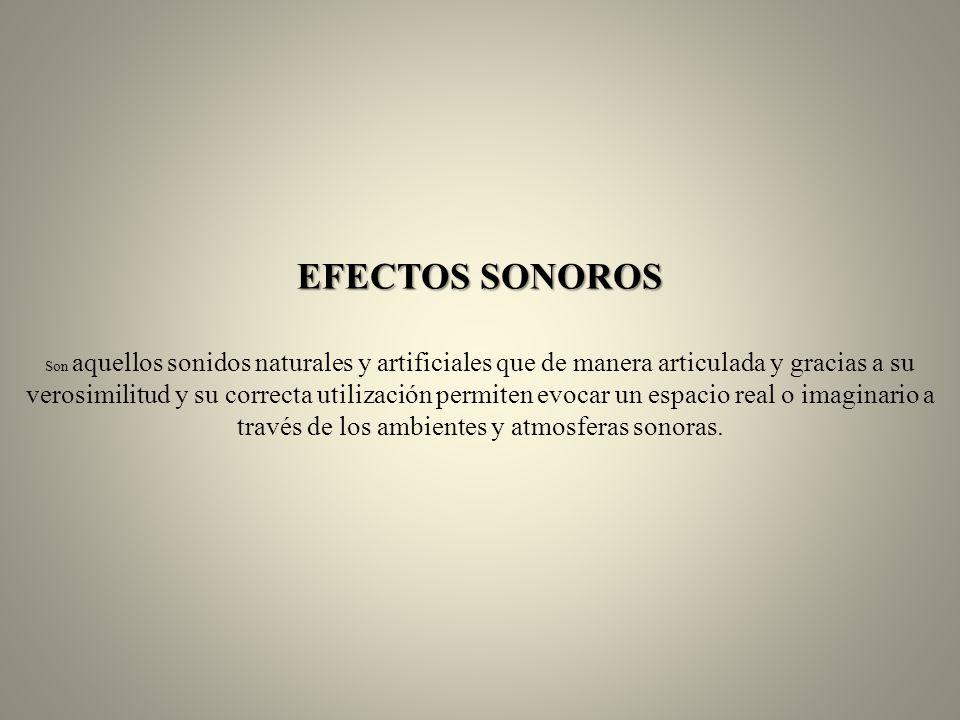 EFECTOS SONOROS