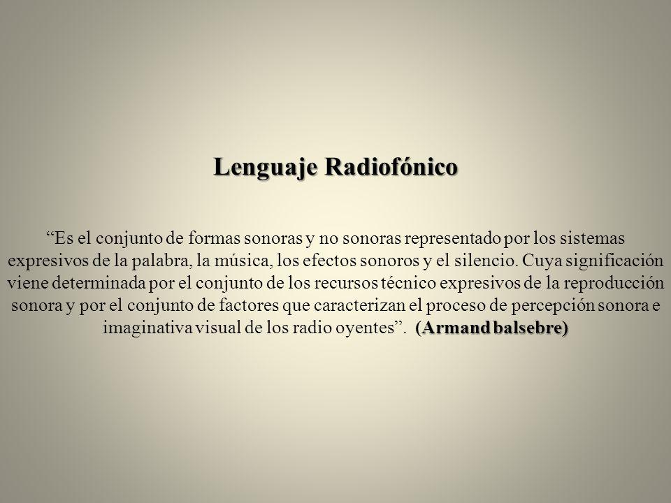 Lenguaje Radiofónico