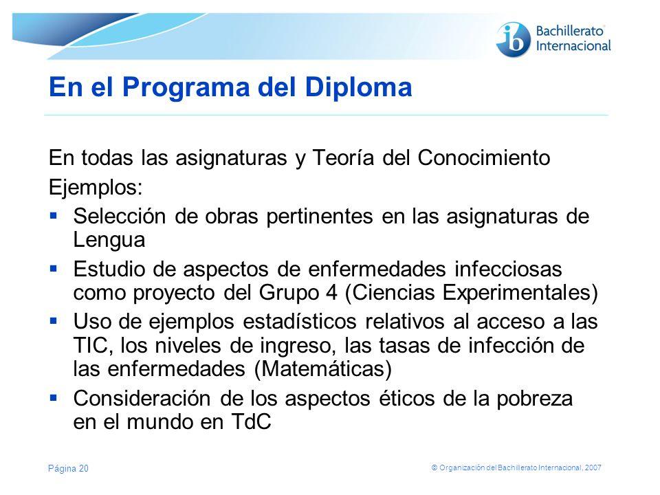 En el Programa del Diploma