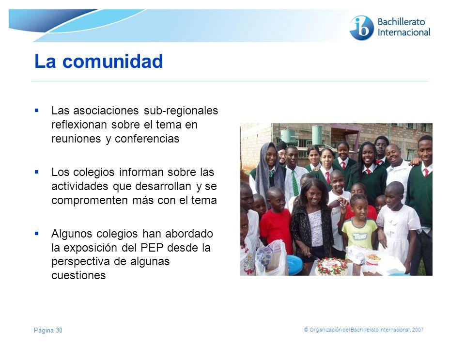 La comunidad Las asociaciones sub-regionales reflexionan sobre el tema en reuniones y conferencias.