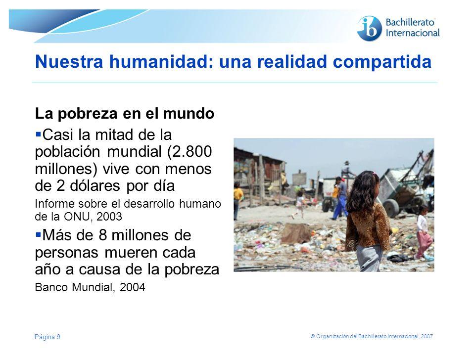 Nuestra humanidad: una realidad compartida