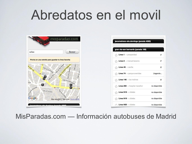 MisParadas.com — Información autobuses de Madrid