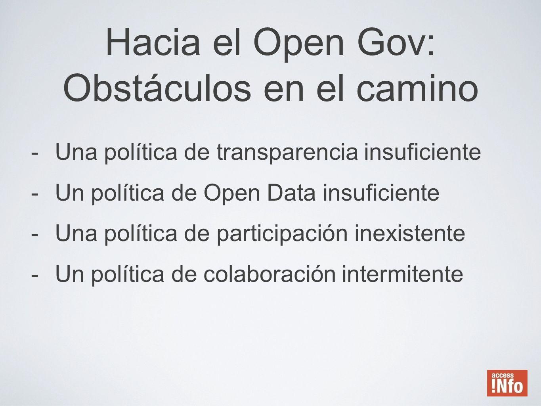 Hacia el Open Gov: Obstáculos en el camino
