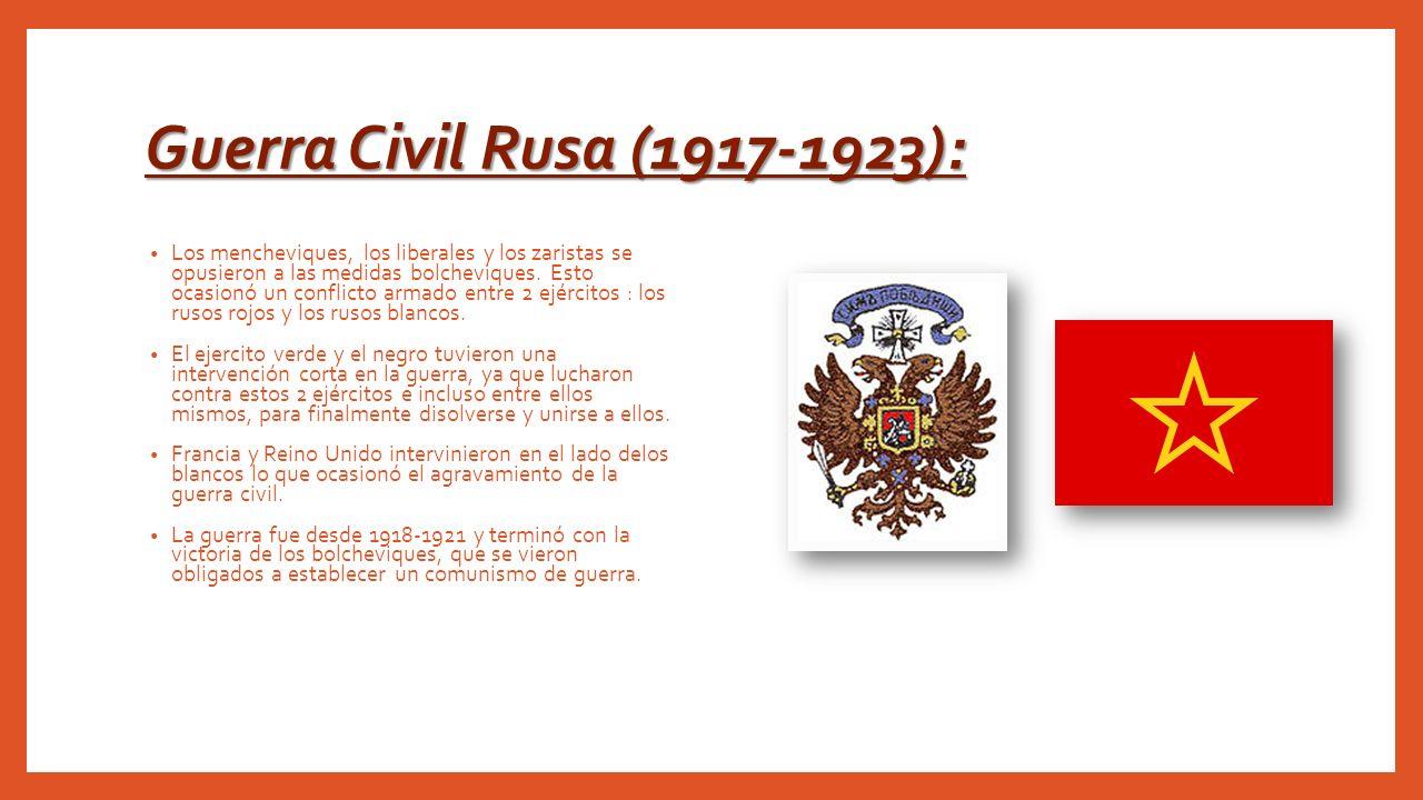 Guerra Civil Rusa (1917-1923):